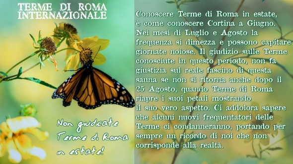 Non giudicate terme di roma in estate
