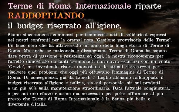 Ricominciamo con terme di roma