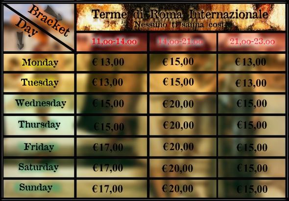 INGLESE tabella prezzi LUGLIO 2014