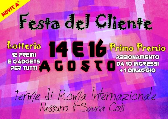 Festa del cliente 14 16 Agosto